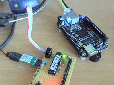 BeagleBone with workarounds to get the right things connected